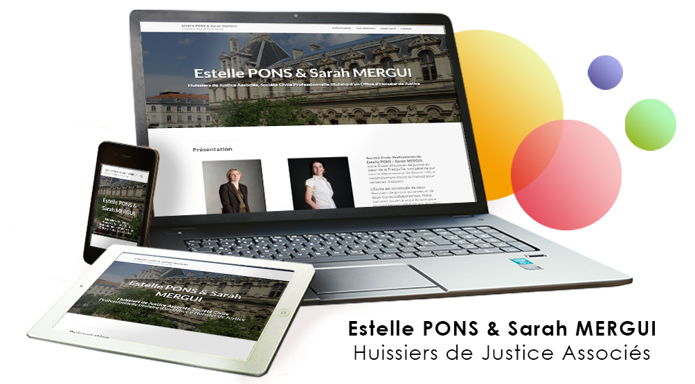 Site Wordpress pour Huissiers Pons Mergui