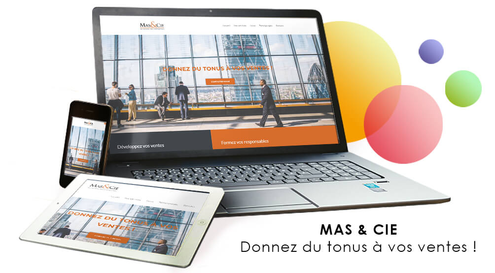 Mas et Cie : site wordpress en responsive design
